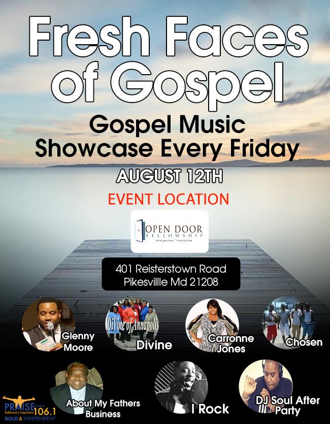 Fresh Faces of Gospel 8/12
